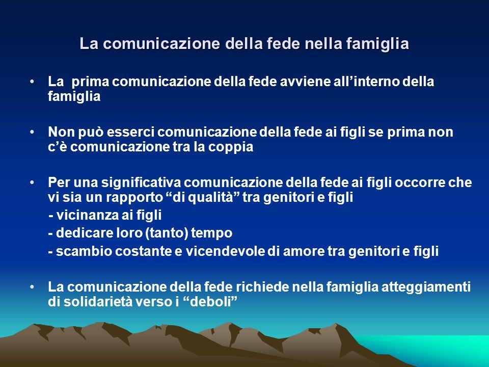La comunicazione della fede nella famiglia