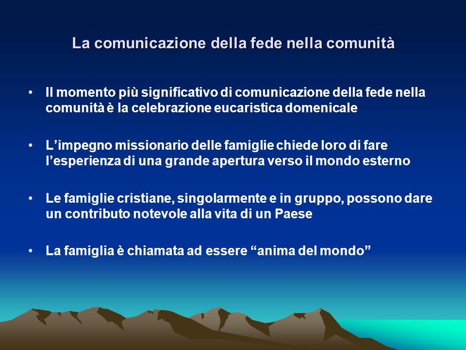 La comunicazione della fede nella comunità