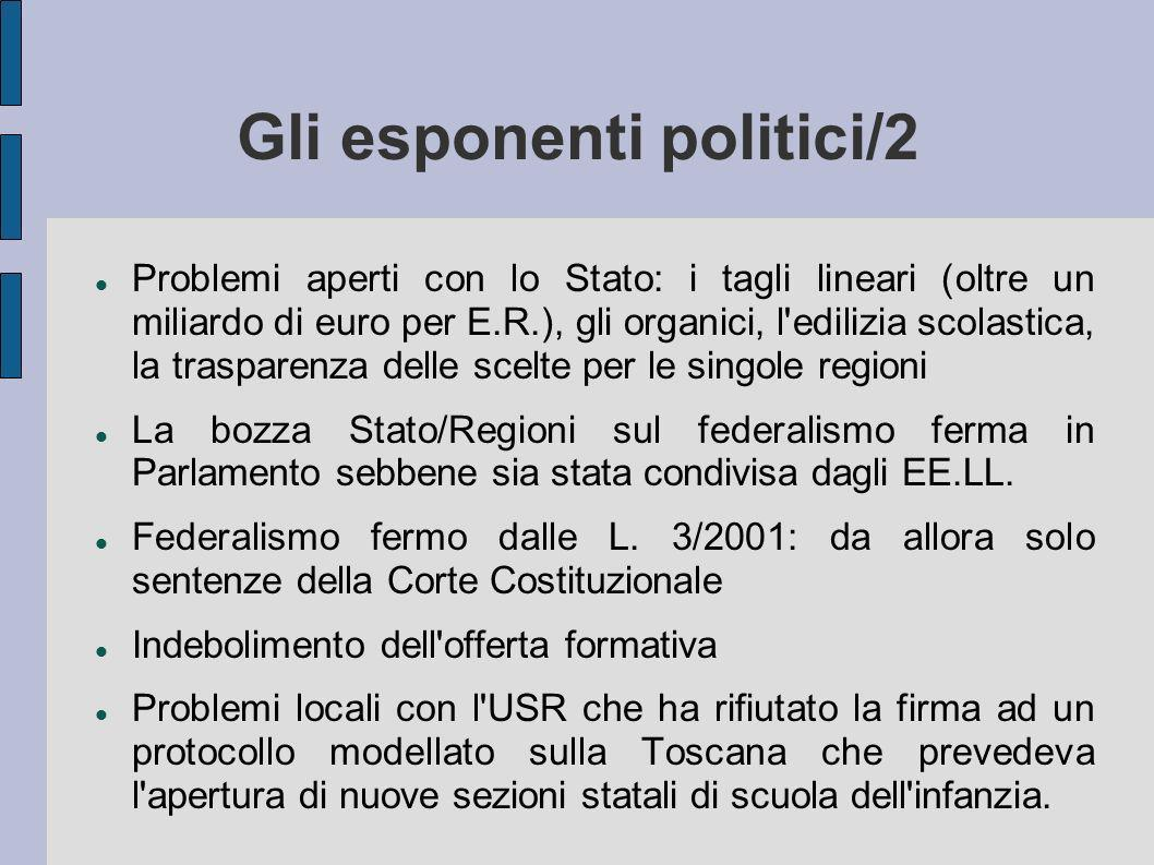 Gli esponenti politici/2