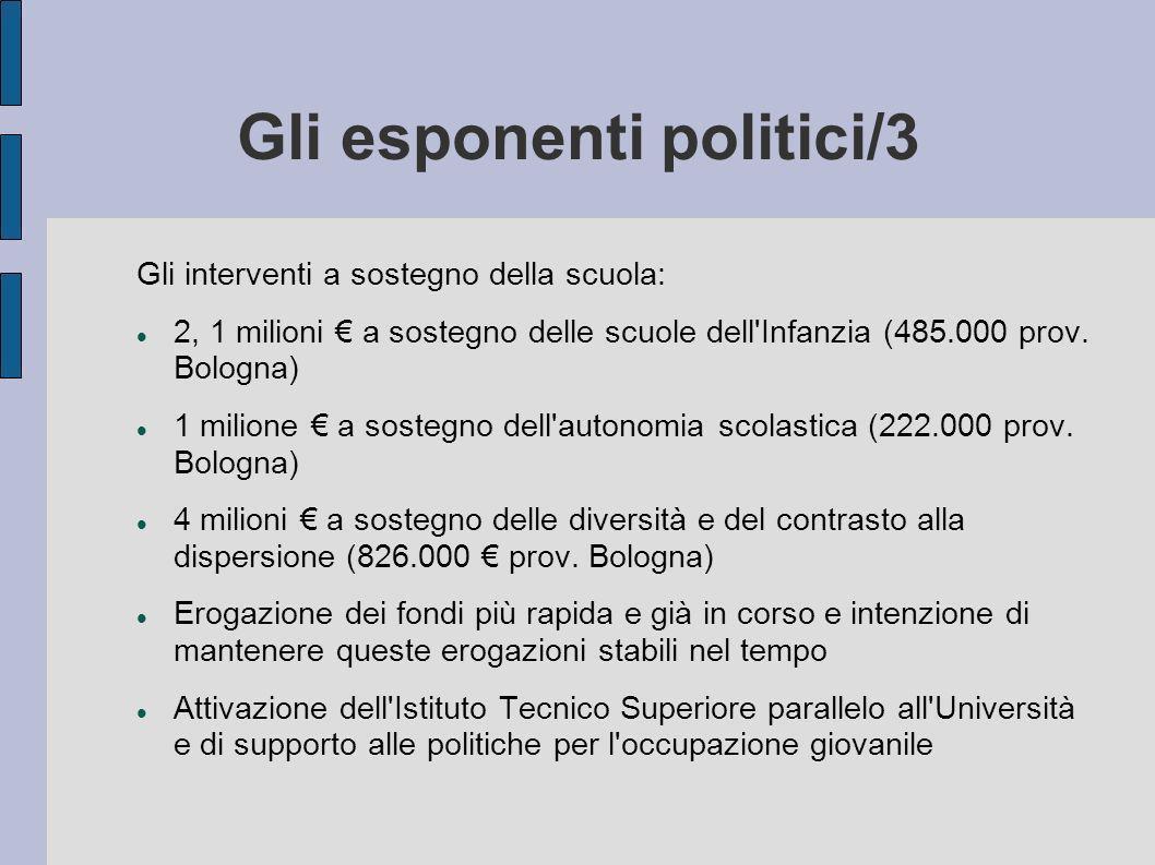 Gli esponenti politici/3