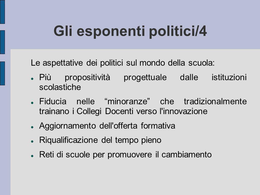 Gli esponenti politici/4