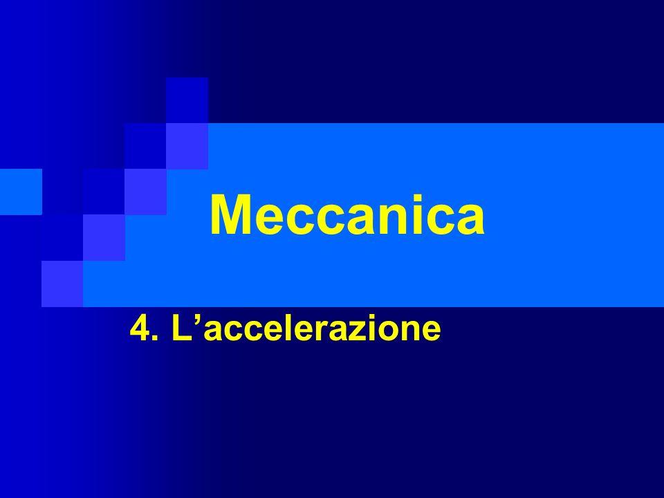 Meccanica 4. L'accelerazione