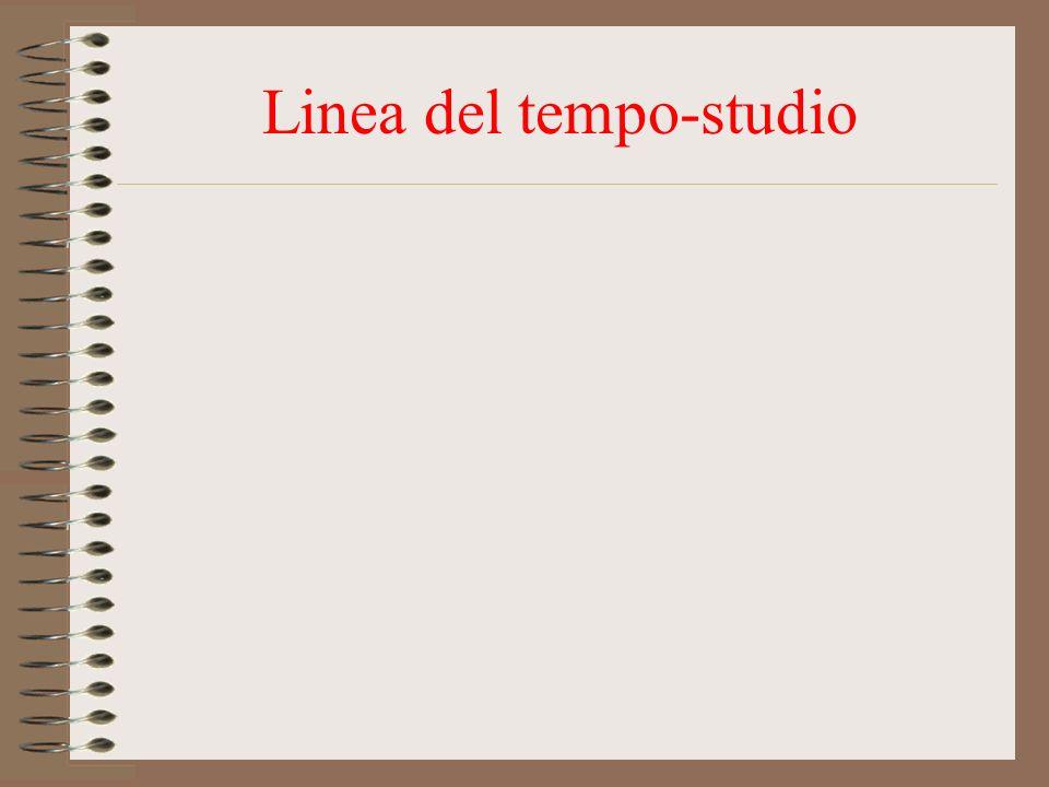 Linea del tempo-studio
