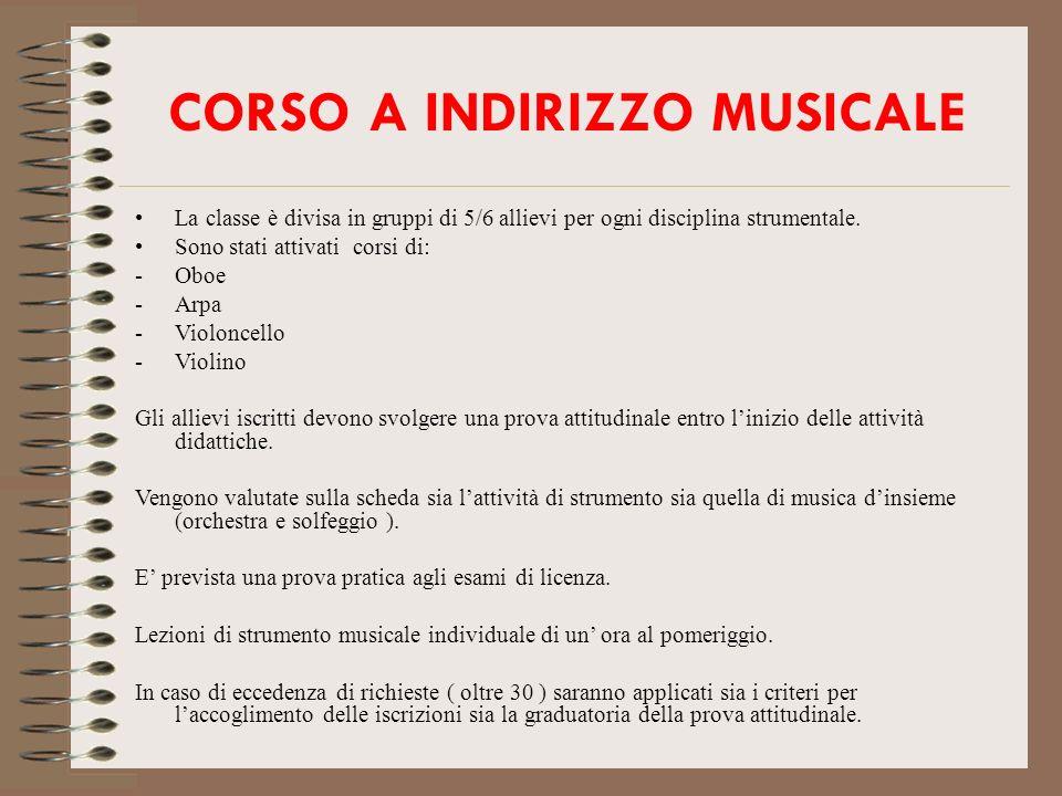 CORSO A INDIRIZZO MUSICALE