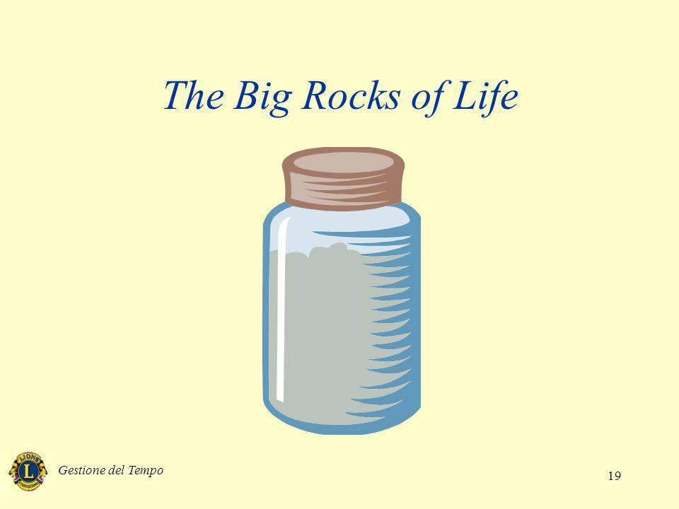 The Big Rocks of Life Gestione del Tempo