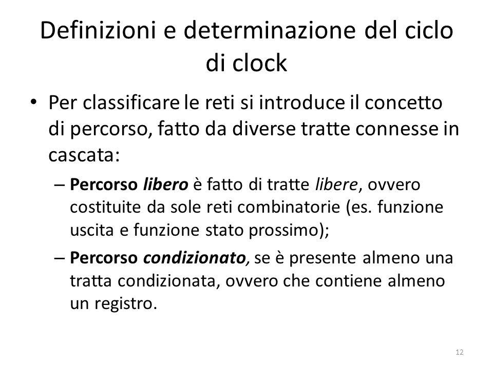 Definizioni e determinazione del ciclo di clock