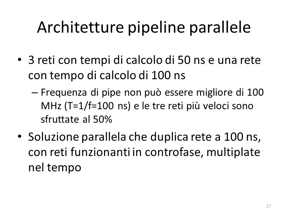 Architetture pipeline parallele