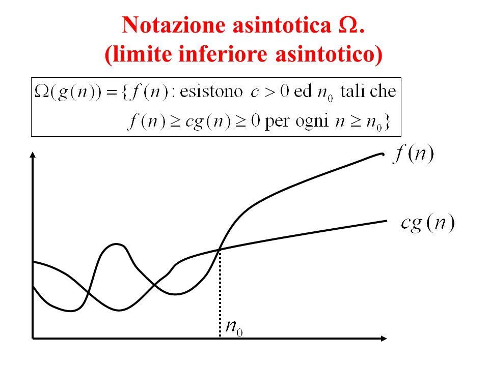 Notazione asintotica . (limite inferiore asintotico)