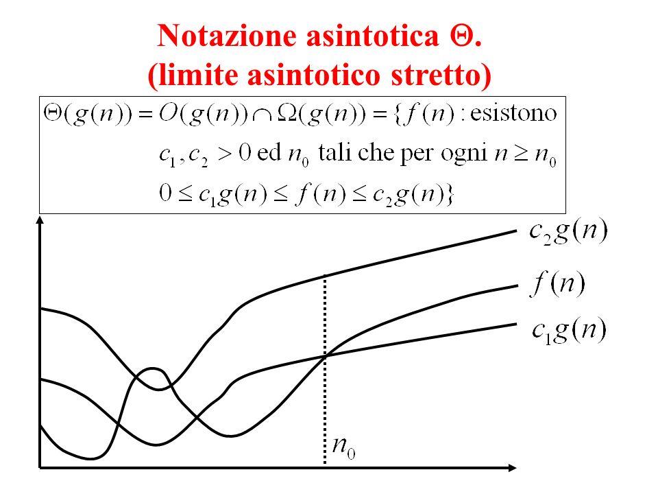 Notazione asintotica . (limite asintotico stretto)