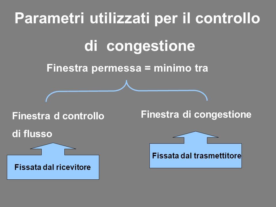 Parametri utilizzati per il controllo