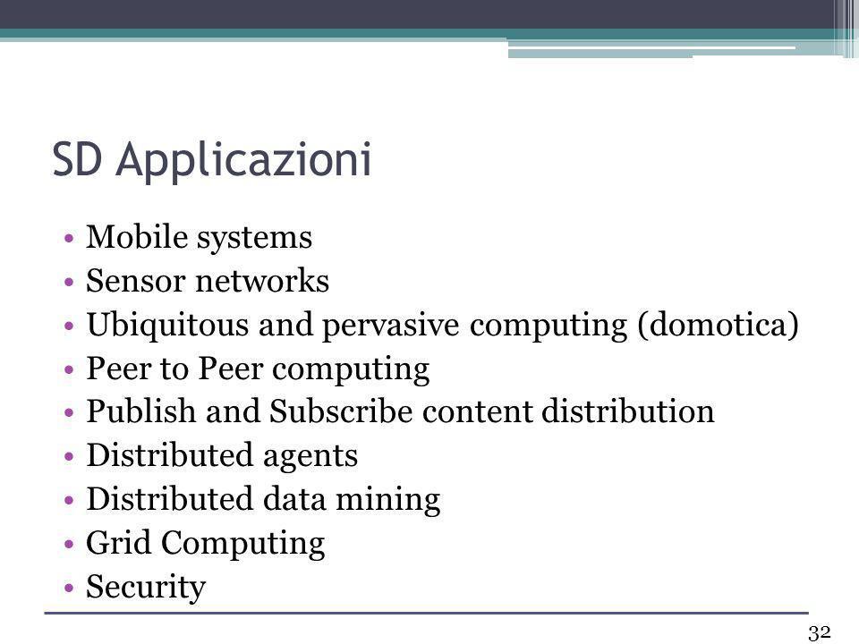 SD Applicazioni Mobile systems Sensor networks