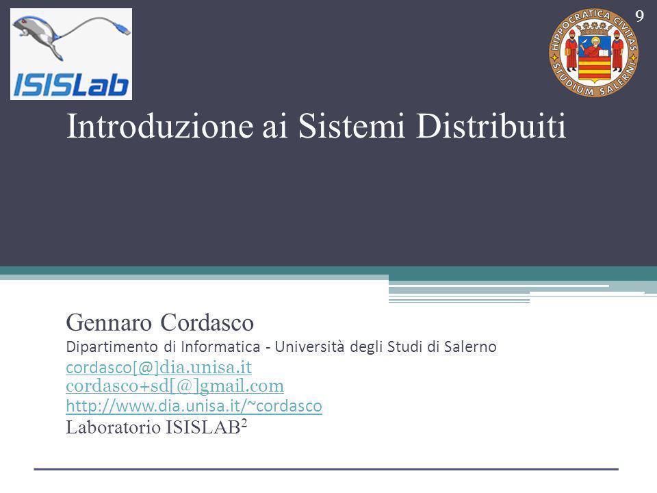 Introduzione ai Sistemi Distribuiti