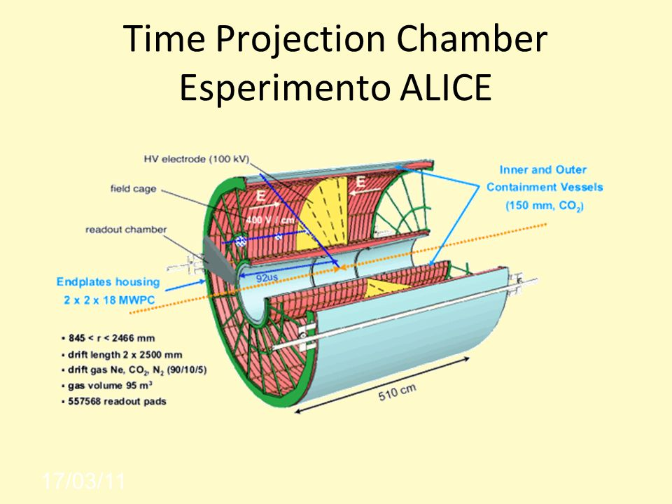 Time Projection Chamber Esperimento ALICE
