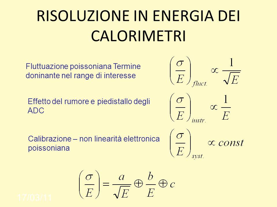 RISOLUZIONE IN ENERGIA DEI CALORIMETRI