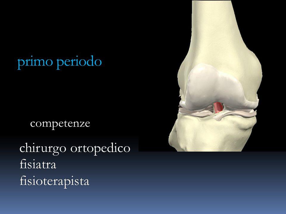 primo periodo competenze chirurgo ortopedico fisiatra fisioterapista