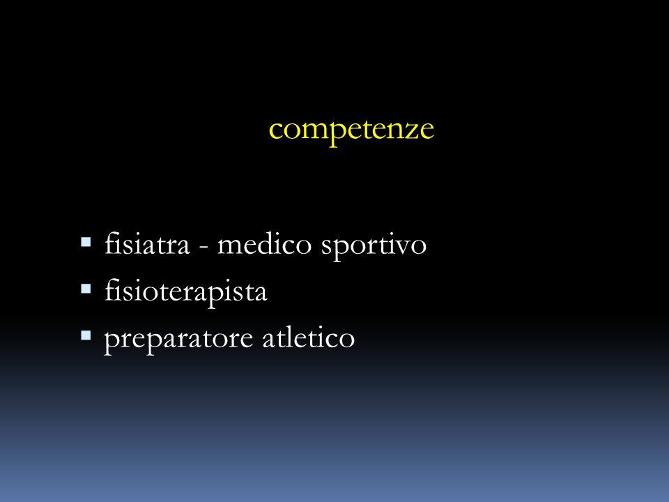 competenze fisiatra - medico sportivo fisioterapista