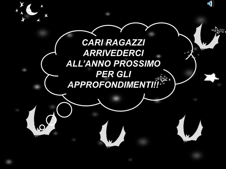 CARI RAGAZZI ARRIVEDERCI ALL'ANNO PROSSIMO PER GLI APPROFONDIMENTI!!