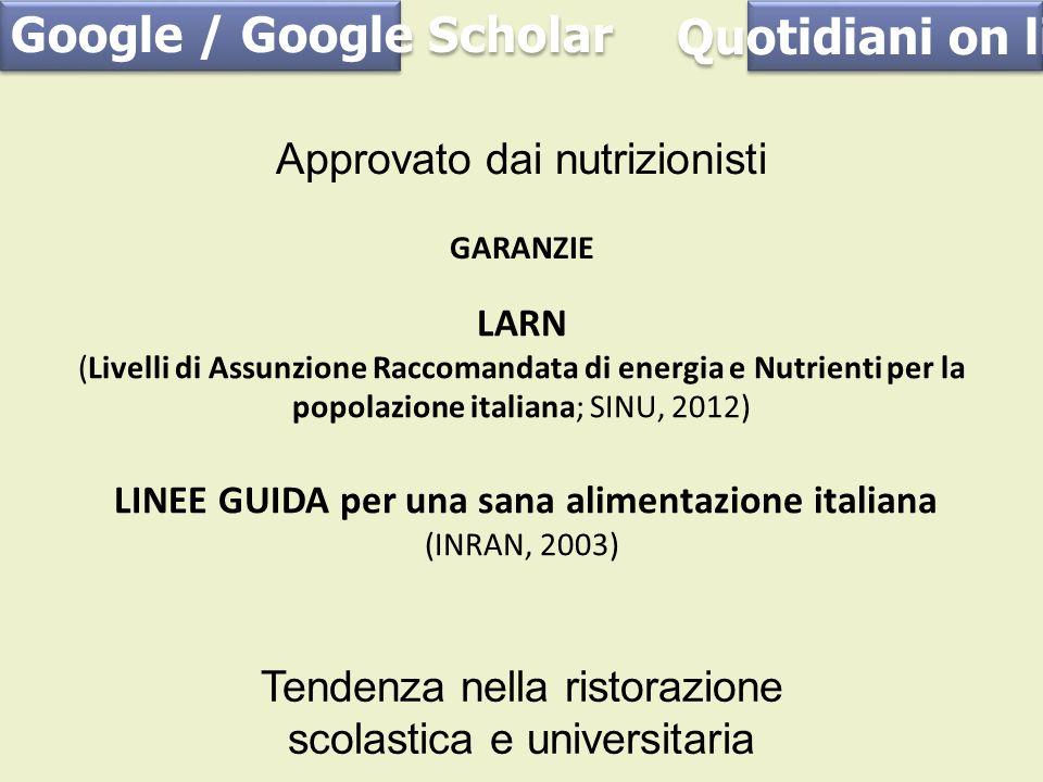 Google / Google Scholar Quotidiani on line