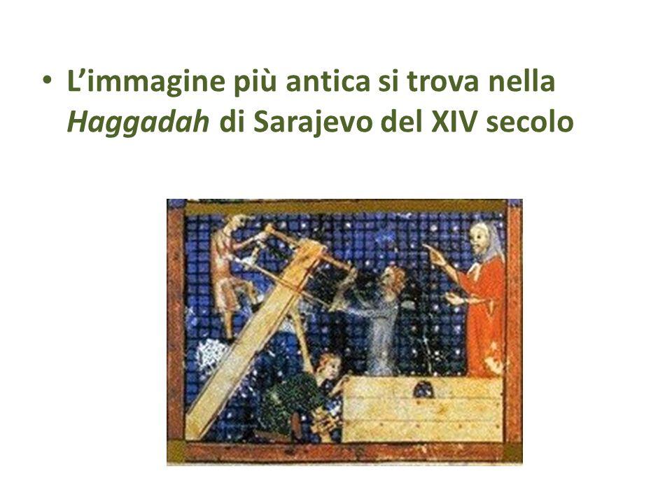 L'immagine più antica si trova nella Haggadah di Sarajevo del XIV secolo