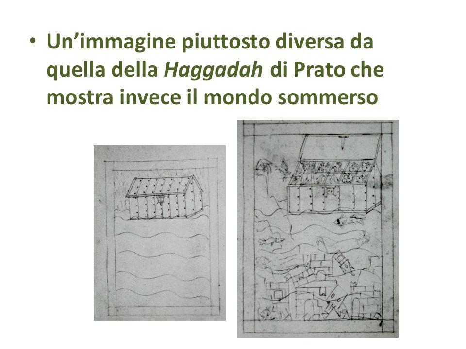 Un'immagine piuttosto diversa da quella della Haggadah di Prato che mostra invece il mondo sommerso