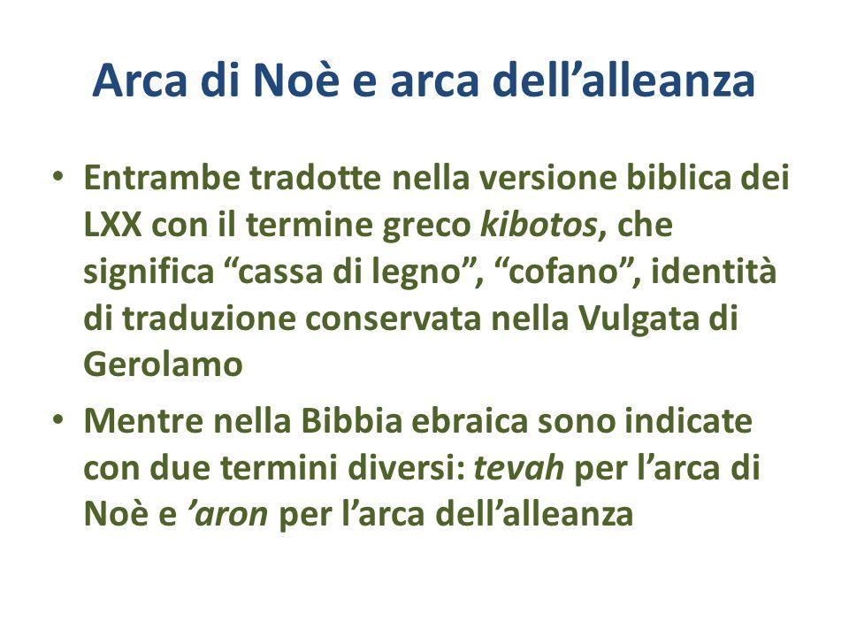 Arca di Noè e arca dell'alleanza