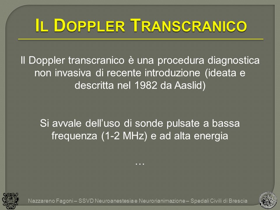 Il Doppler Transcranico