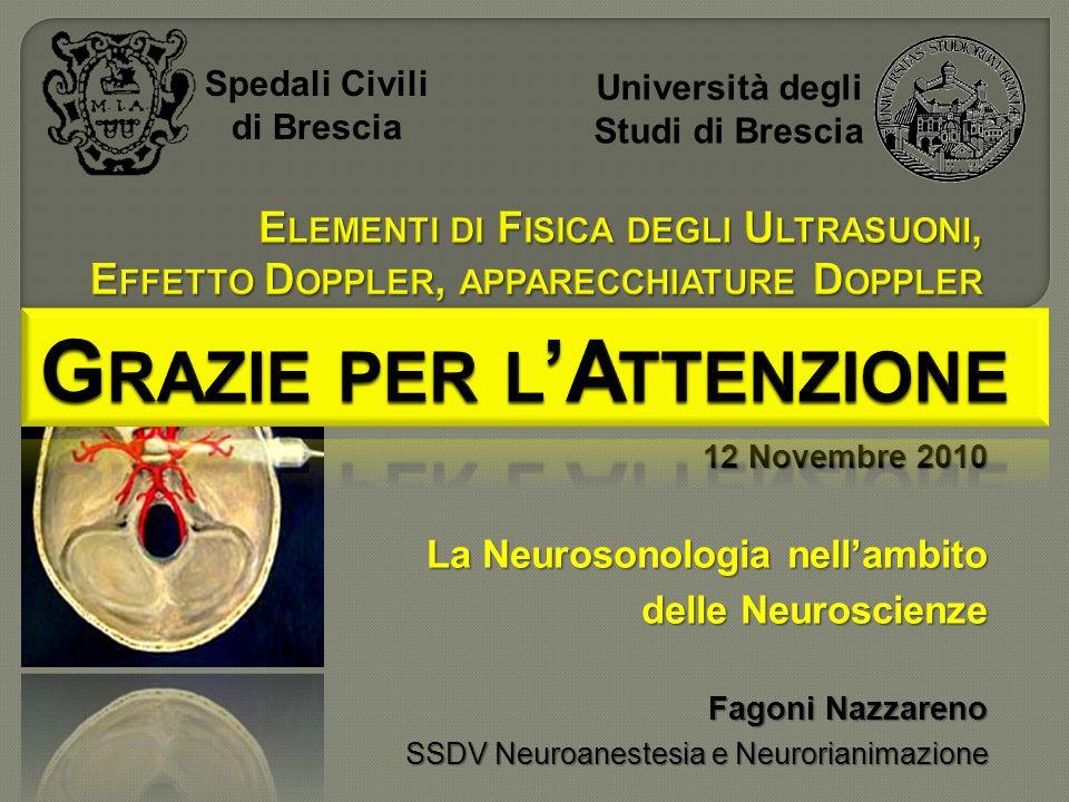 Università degli Studi di Brescia Grazie per l'Attenzione