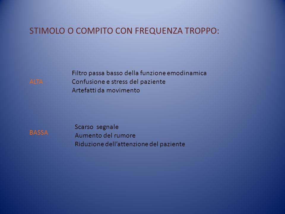 STIMOLO O COMPITO CON FREQUENZA TROPPO: