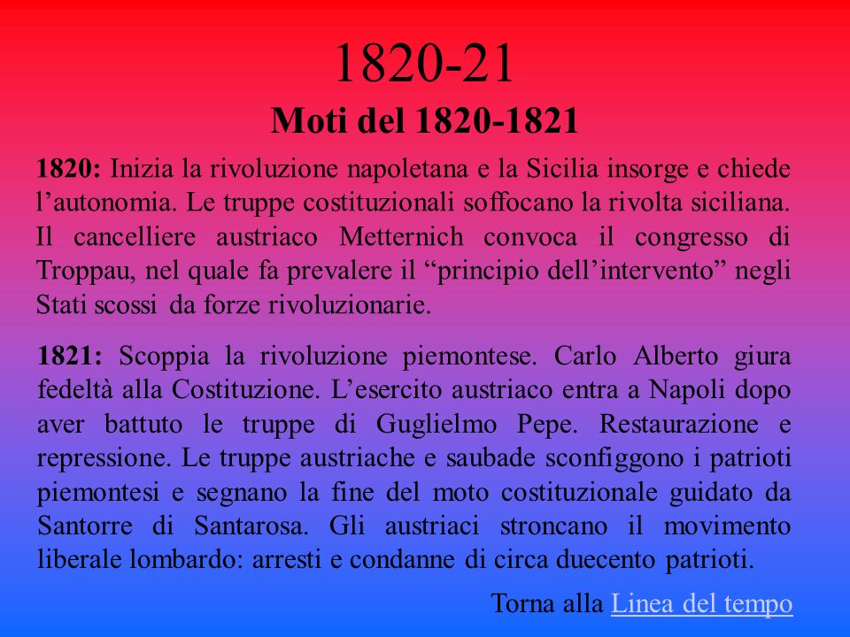 1820-21 Moti del 1820-1821.