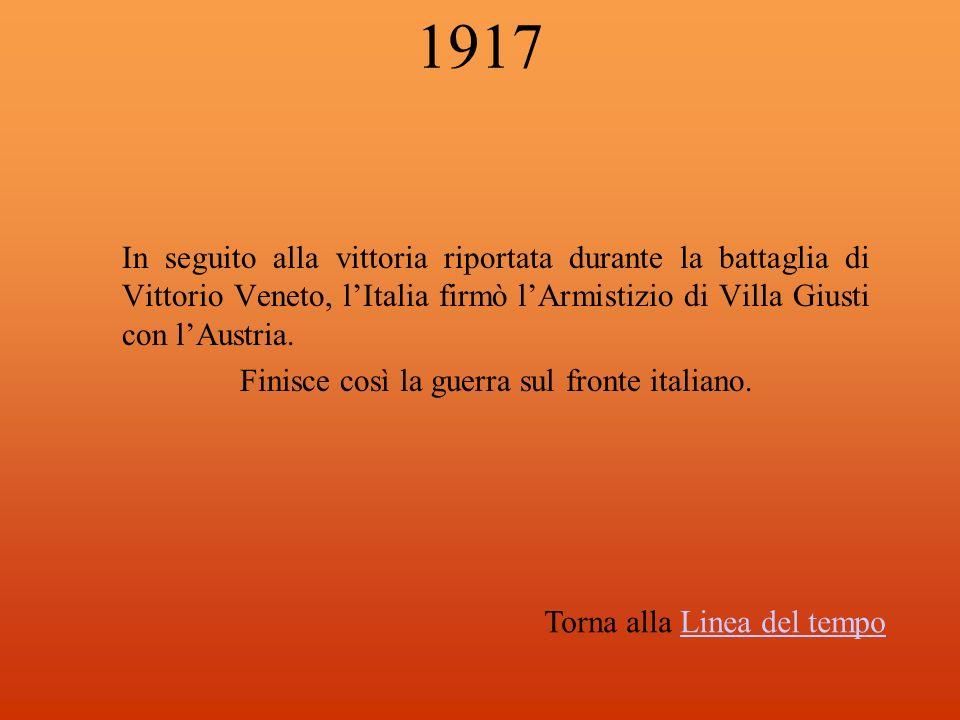 Finisce così la guerra sul fronte italiano.