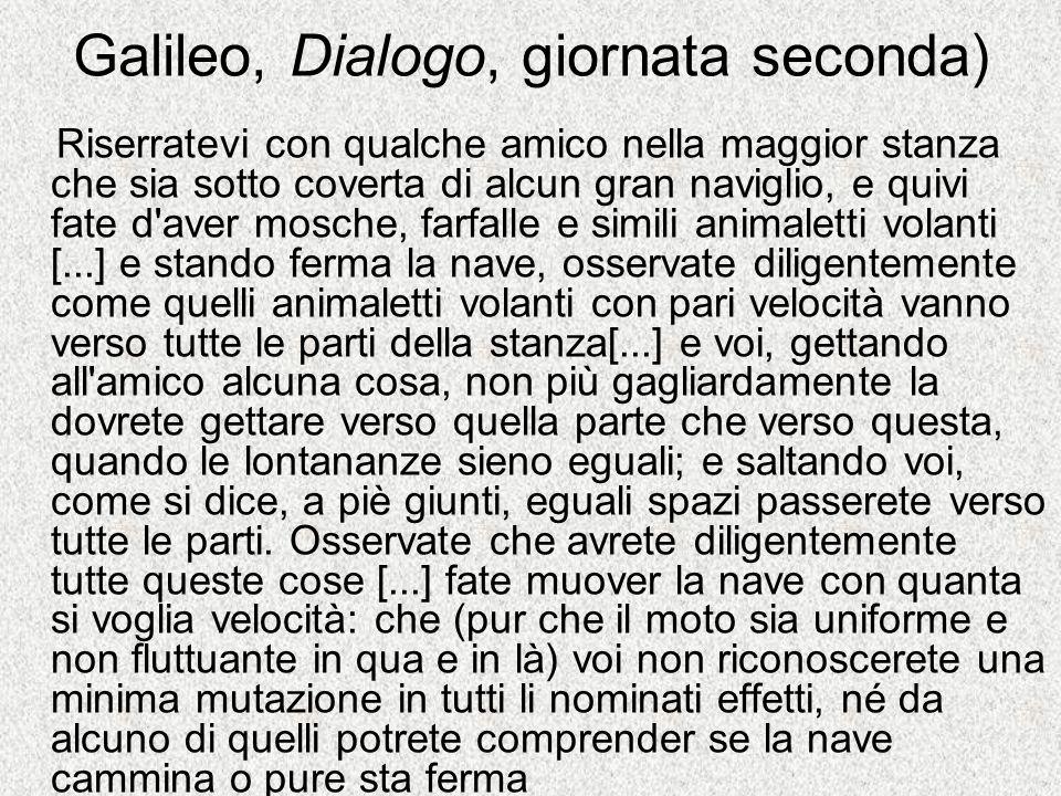 Galileo, Dialogo, giornata seconda)