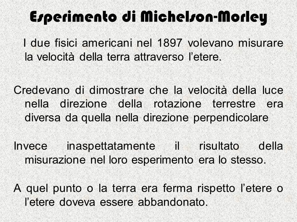 Esperimento di Michelson-Morley
