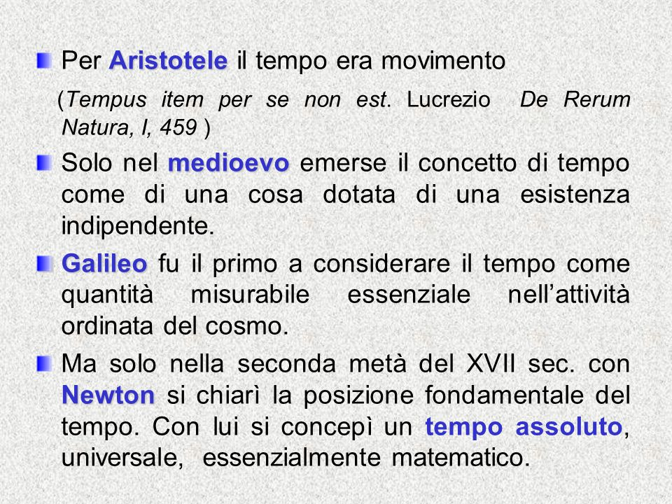 Per Aristotele il tempo era movimento