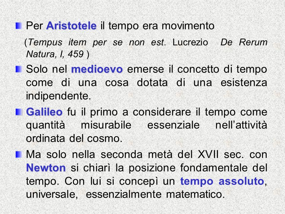 Per Aristotele il tempo era movimento