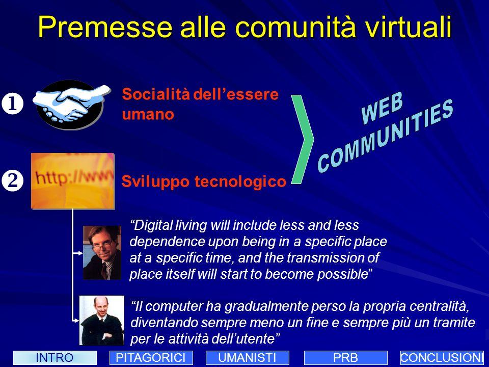 Premesse alle comunità virtuali