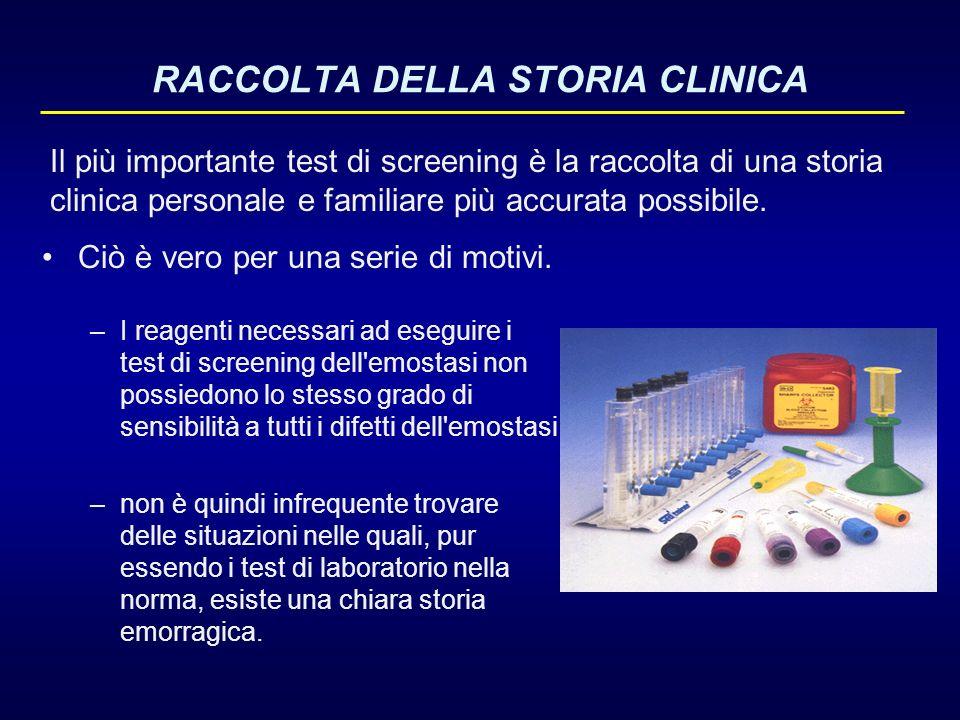 RACCOLTA DELLA STORIA CLINICA