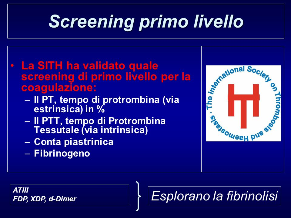 Screening primo livello