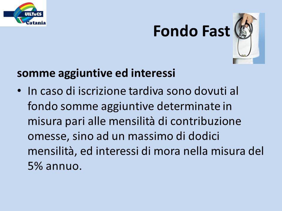 Fondo Fast somme aggiuntive ed interessi