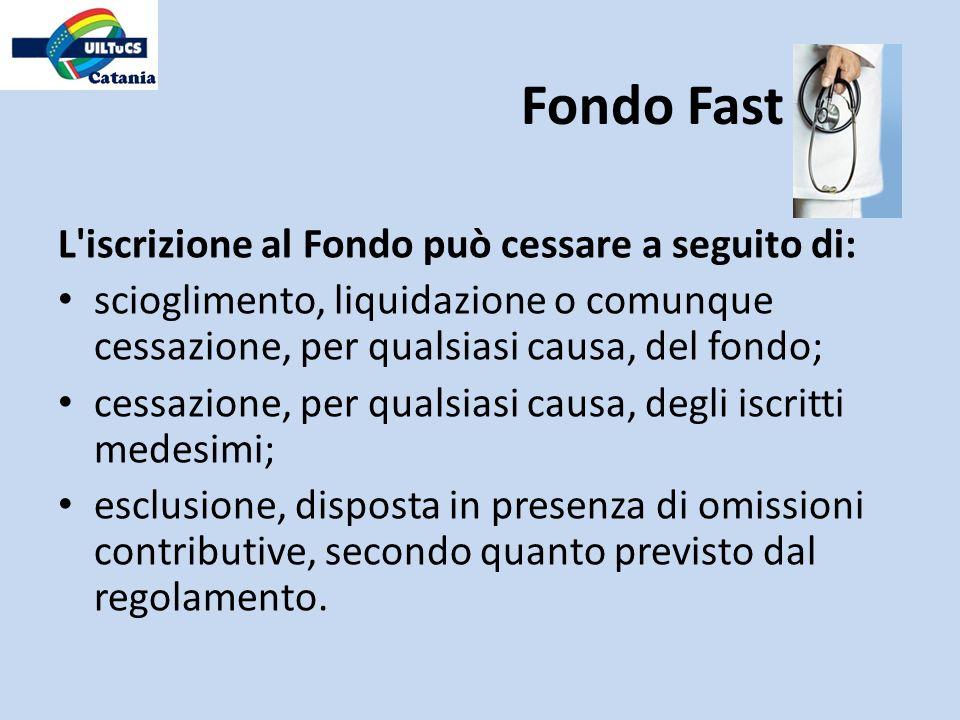 Fondo Fast L iscrizione al Fondo può cessare a seguito di: