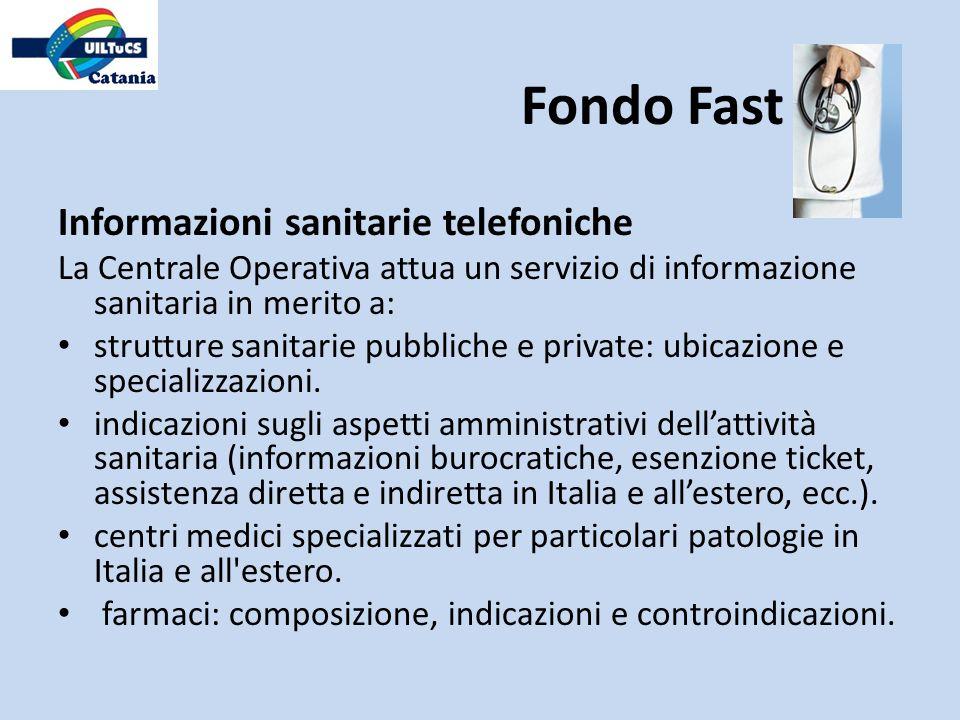 Fondo Fast Informazioni sanitarie telefoniche