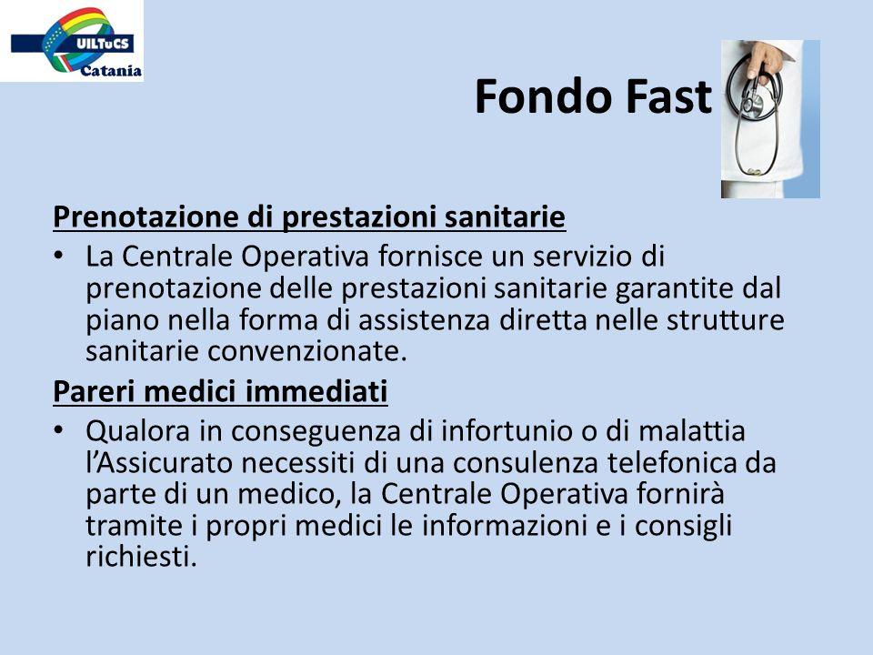 Fondo Fast Prenotazione di prestazioni sanitarie