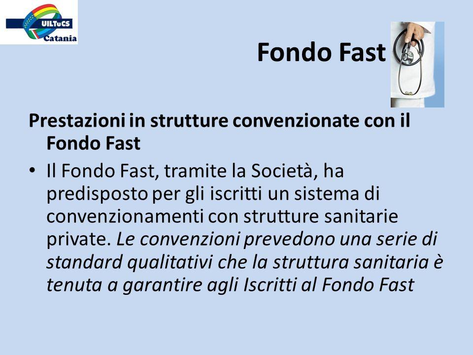 Fondo Fast Prestazioni in strutture convenzionate con il Fondo Fast