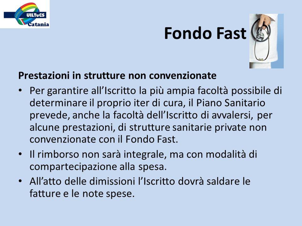 Fondo Fast Prestazioni in strutture non convenzionate
