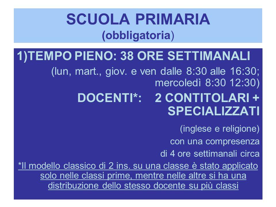 SCUOLA PRIMARIA (obbligatoria)