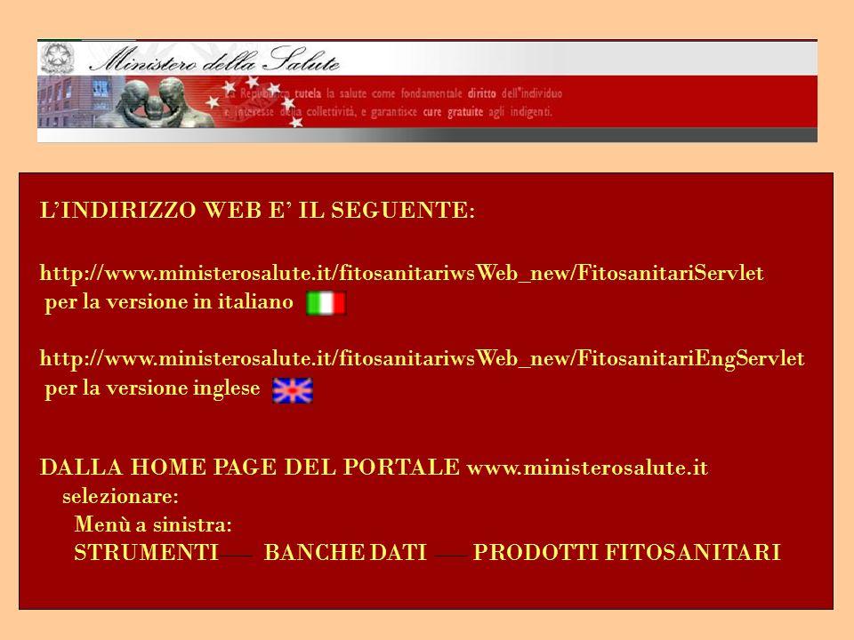 L'INDIRIZZO WEB E' IL SEGUENTE:
