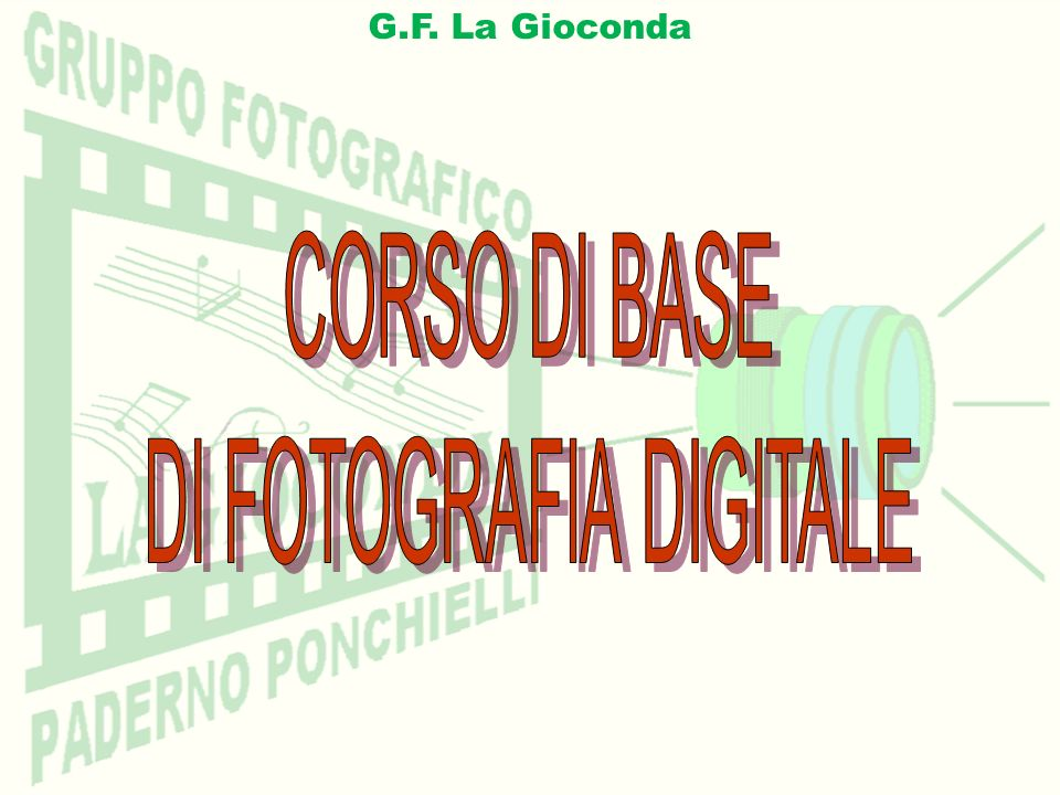 DI FOTOGRAFIA DIGITALE