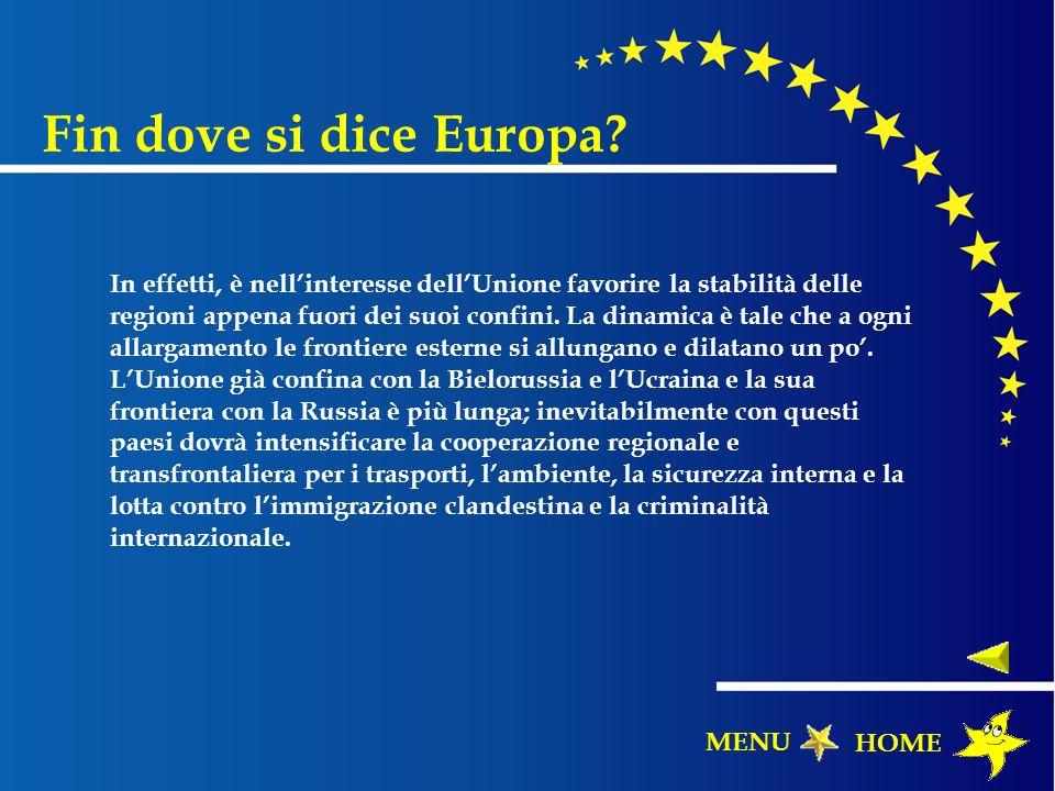Fin dove si dice Europa