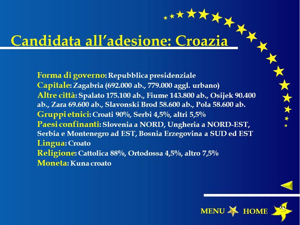 Candidata all'adesione: Croazia