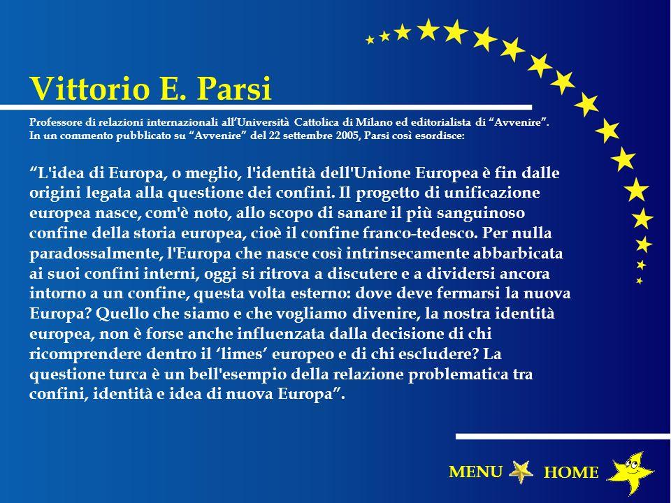 Vittorio E. Parsi MENU HOME