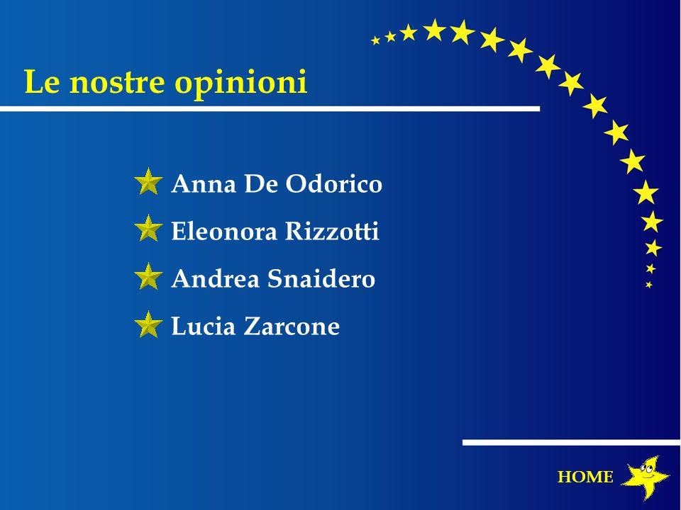 Le nostre opinioni Anna De Odorico Eleonora Rizzotti Andrea Snaidero